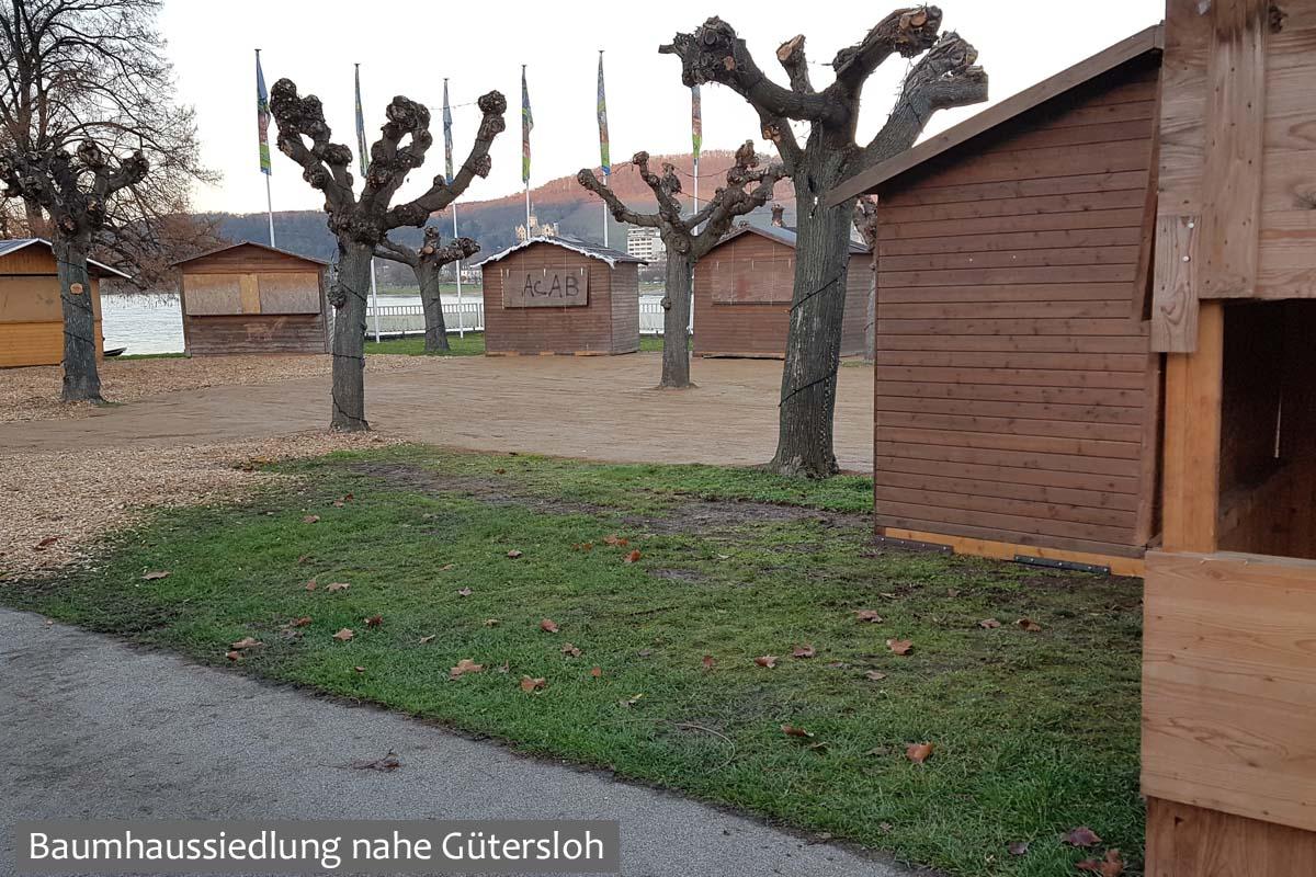 Baumhaussiedlung nahe Gütersloh